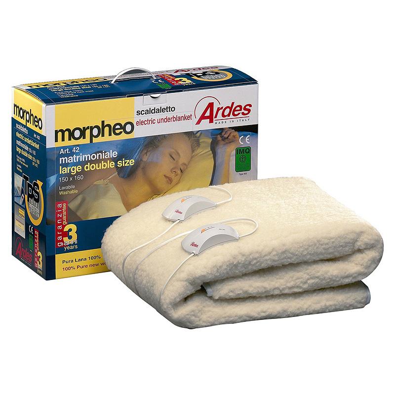 Διπλή ηλεκτρική κουβέρτα 100% μαλλί MORPHEO - Roi Medicals