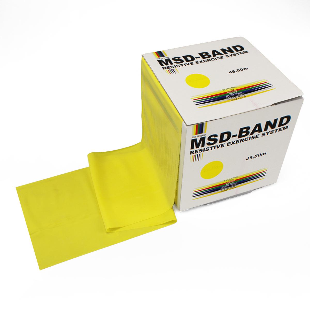 Λάστιχο Γυμναστικής (2 μέτρα) MSD Βand κίτρινο μαλακό - Roi Medicals