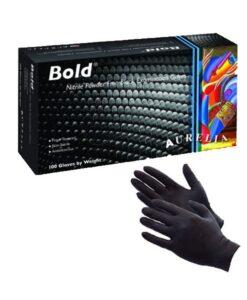 Γάντια Aurelia Bold νιτριλίου μαύρα χωρίς πούδρα - Roi Medicals