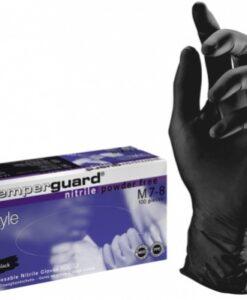Γάντια SemperguardStyle νιτριλίου χωρίς πούδρα μαύρο- Roi Medicals