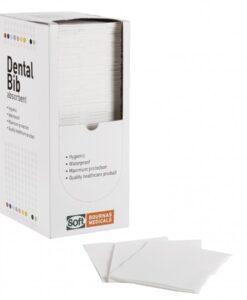 Οδοντιατρική πετσέτα χωρίς λαιμόκοψη (125 τμχ) ΛΕΥΚΉ- Roi Medicals