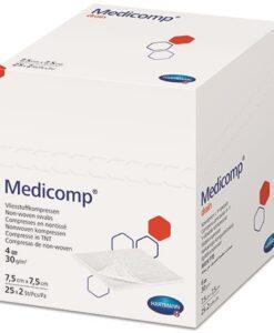 Medicomp γάζα non-woven 4πλά 7.5 x 7.5cm - Roi Medicals