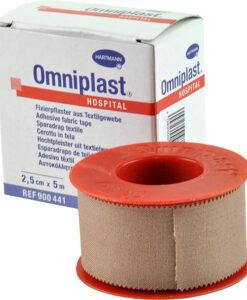 Ταινίες Omniplast αυτοκόλλητες υφασμάτινες 2,5cmx5m-Roi Medicals