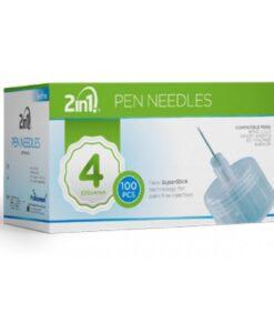 Βελόνες πένας ινσουλίνης PEN NEEDLES 2in1 4mm- Roi Medicals
