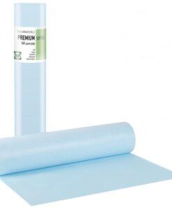 Εξεταστικό μπλε ρολό πλαστικό+χαρτί κόλα 58cmx50m-Roi Medicals