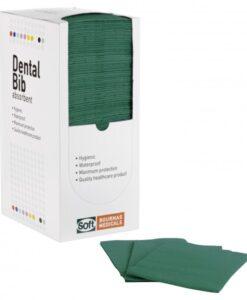 Οδοντιατρική πετσέτα SOFT-CARE (125 τμχ) ΠΡΑΣΙΝΗ - Roi Medicals