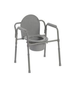 Καρέκλα τουαλέτας με ειδική βαφή αδιάβροχη Χρησιμοποιείται σαν τουαλέτα με δοχείο, ως καρέκλα μπάνιου και ως ανυψωτικό λεκάνης χωρίς δοχείο.