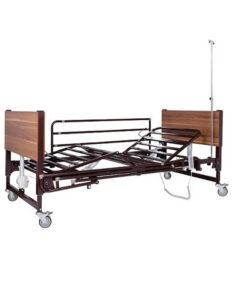 Νοσοκομειακό κρεβάτι ηλεκτρικό πολύσπαστο καφέ 0806449-Roi Medicals