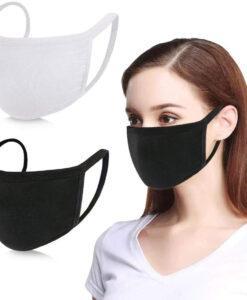 Μάσκα προσώπου υφασμάτινη μαύρη Large- Roi Medicals