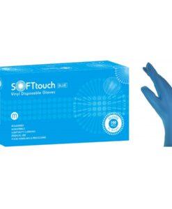 Γάντια βινυλίου μπλέ χωρίς πούδρα Soft touch Xlarge - Roi Medicals