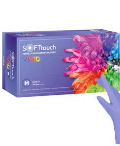 Vivid γάντια νιτριλίου Μωβ Soft touch 100τεμ - Roi Medicals