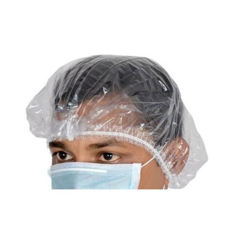Σκουφάκια πλαστικά ακορντεόν λευκά 100 τεμάχια - Roi Medicals