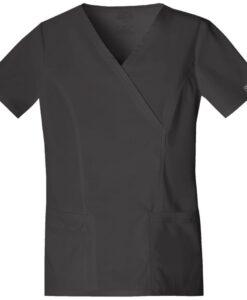 Μπλούζα stretch γυναικεία με λαιμόκοψη 4728 ανθρακί - Roi Medicals
