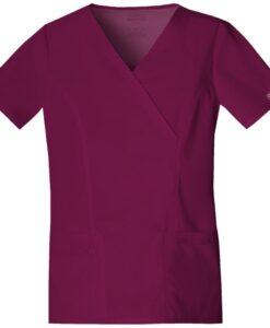 Μπλούζα stretch γυναικεία με λαιμόκοψη 4728 μπορντό - Roi Medicals