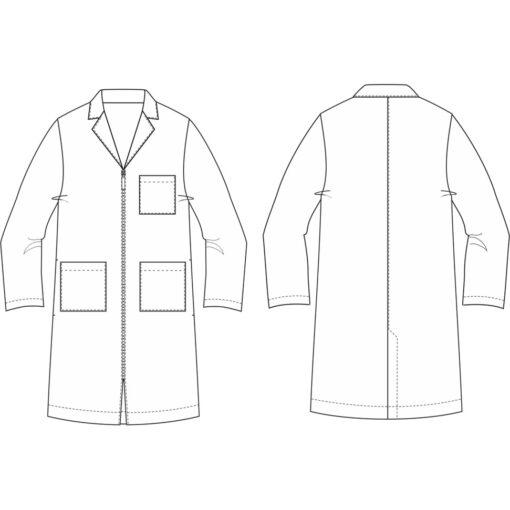 Ιατρική στολή TROT UNISEX SMOCK με φερμουάρ - Roi Medicals