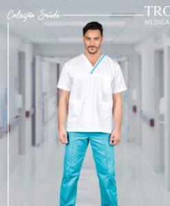 Ιατρική μπλούζα unisex TROT SCRUB TOP λευκή- Roi Medicals