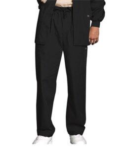 Ανδρικό παντελόνι μαύρο με ελαστική μέση-κορδόνι cherokee-Roi Medicals