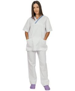 Ιατρικό κουστούμι εφημερίας γυναικείο TROT SMOCK Λευκό-Roi Medicals