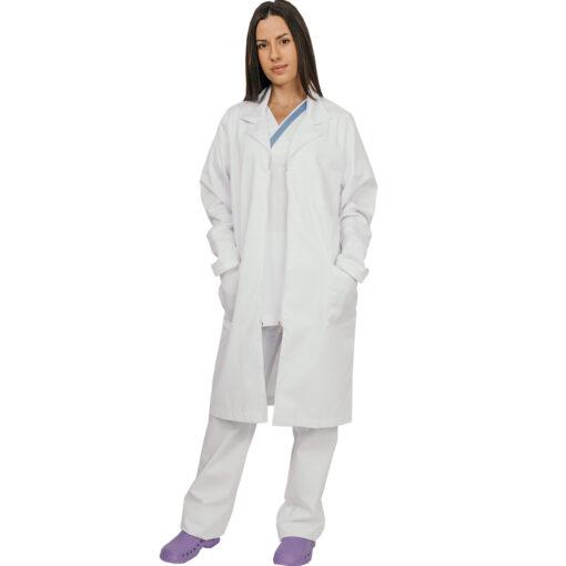 Ιατρική στολή γυναικεία TROT SMOCK με φερμουάρ λευκή-Roi Medicals