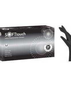 Soft touch γάντια latex μαύρα χωρίς πούδρα - Roi Medicals
