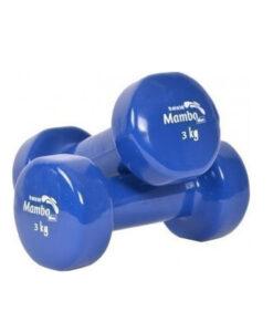 Αλτήρας χεριών βινυλίου Mambo coated μπλε 3Kg - Roi Medicals