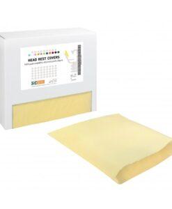 Κάλυμμα κεφαλής οδοντιατρικής έδρας κίτρινο soft (150 τμχ)- Roi Medicals