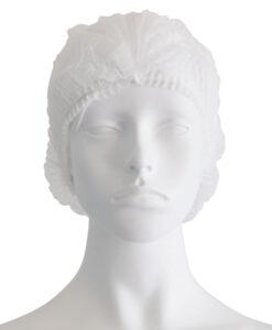 Σκουφάκια non woven ακορντεόν γύρω λάστιχο λευκό - Roi Medicals